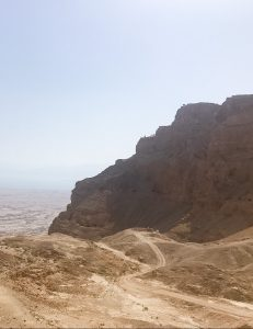 The profile view of where King Herod's palace stood.